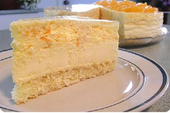 Orange mousse cake with grand marnier - A recipe by Epicuriantime.com